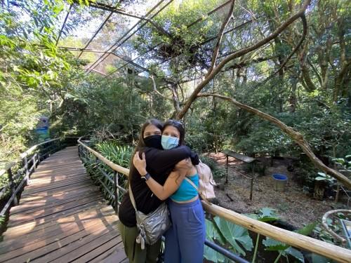 Mirele e Ellerim em Foz do Iguaçu em 2021