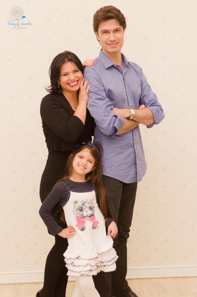 Karen, Mauro e Ellerim, com 6 anos