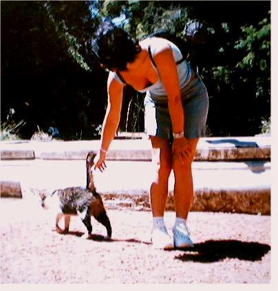 Karen com Gato