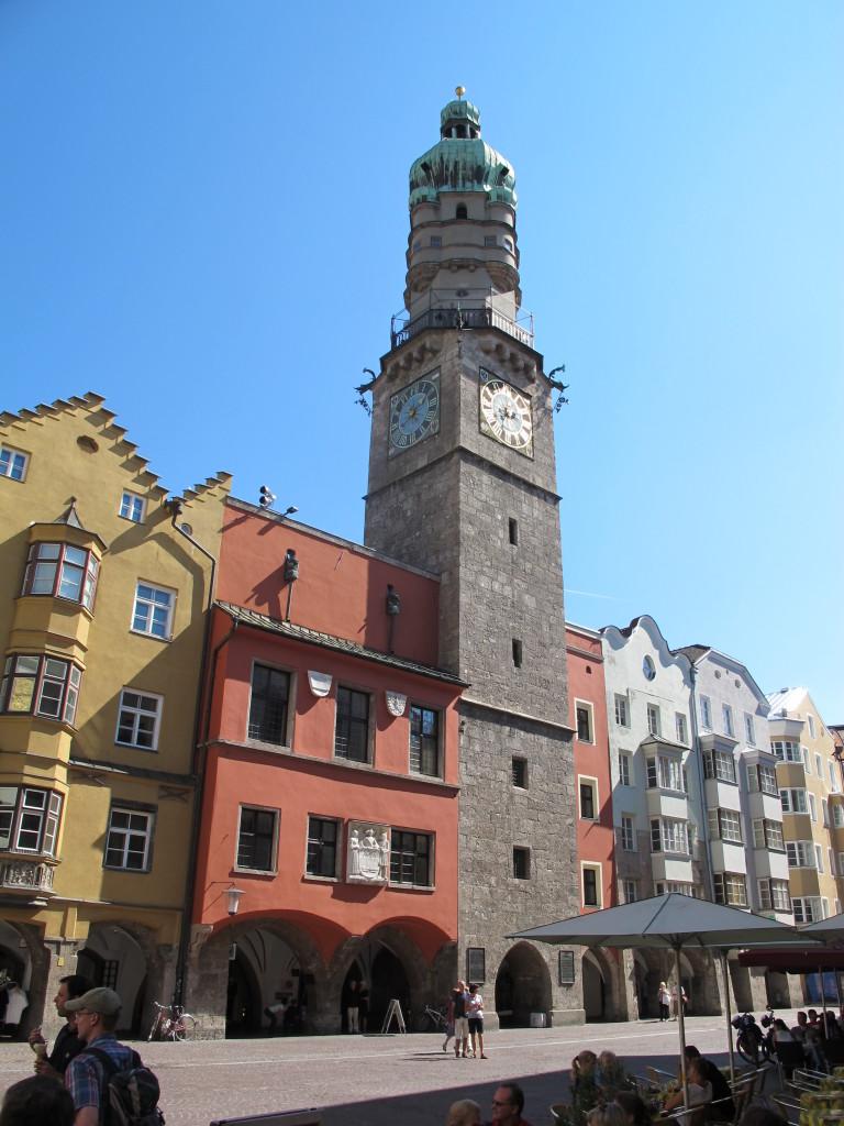 Placas são o charme do centro histórico de Innsbruck