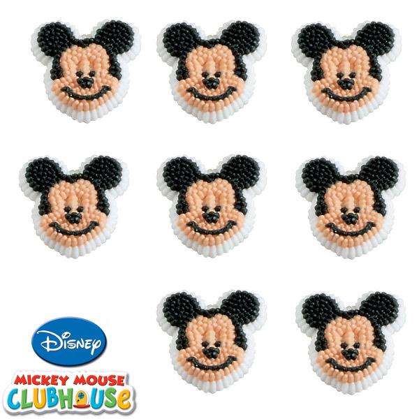 Decoração em glacê para cupcakes do Mickey