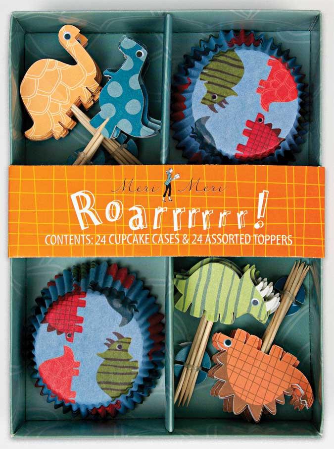 Kit com forminha e toppers para cupcakes!