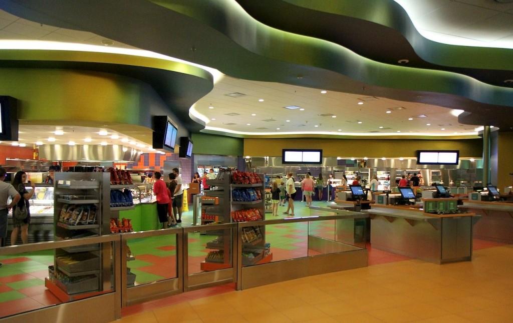 Food Court do Art of Animation - muitas opções de Quick Service