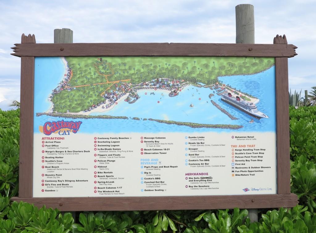 Depois, dar uma verificada no mapa de Cataway Cay para escolher o que fazer primeiro