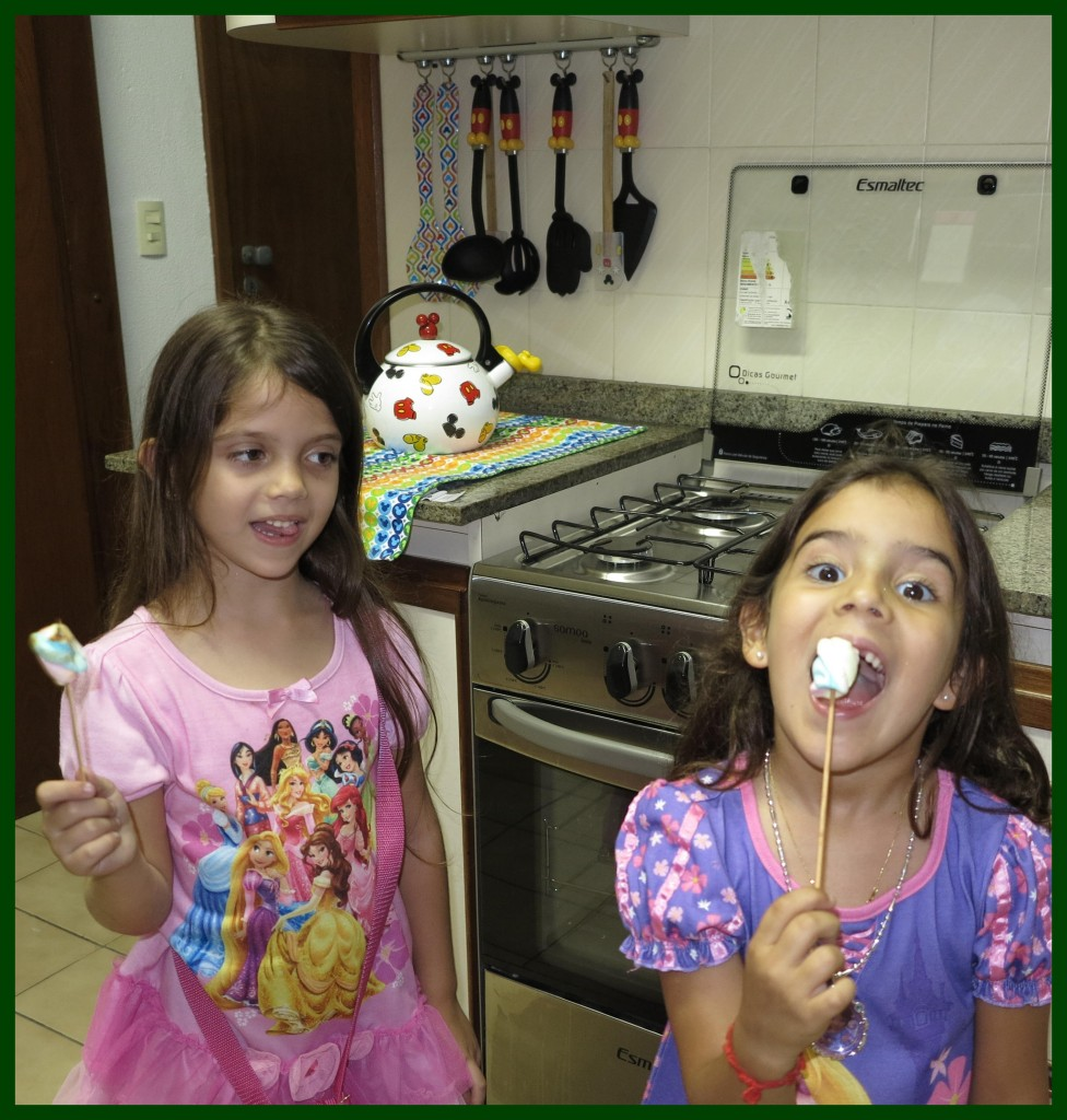 Delícia, marshmallows para acampamento de natal!