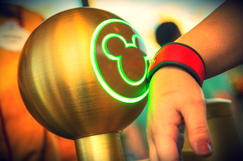 Fast Pass com Magic Bands