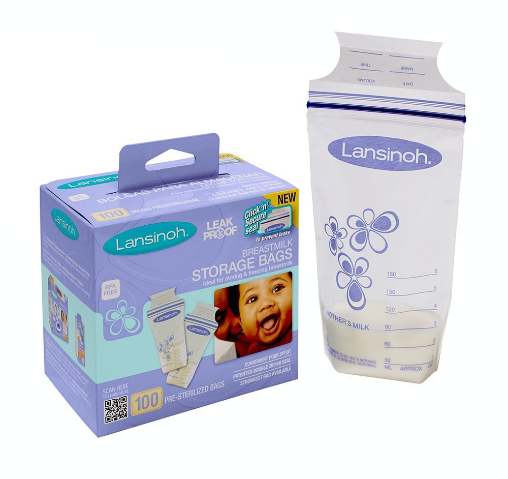Lansinoh Breastmilk Storage Bags para armazenar leite materno!