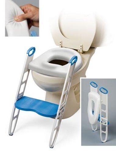 Mommy Helper Contoured Step Up - escada e assento para vaso sanitário, com pegador.