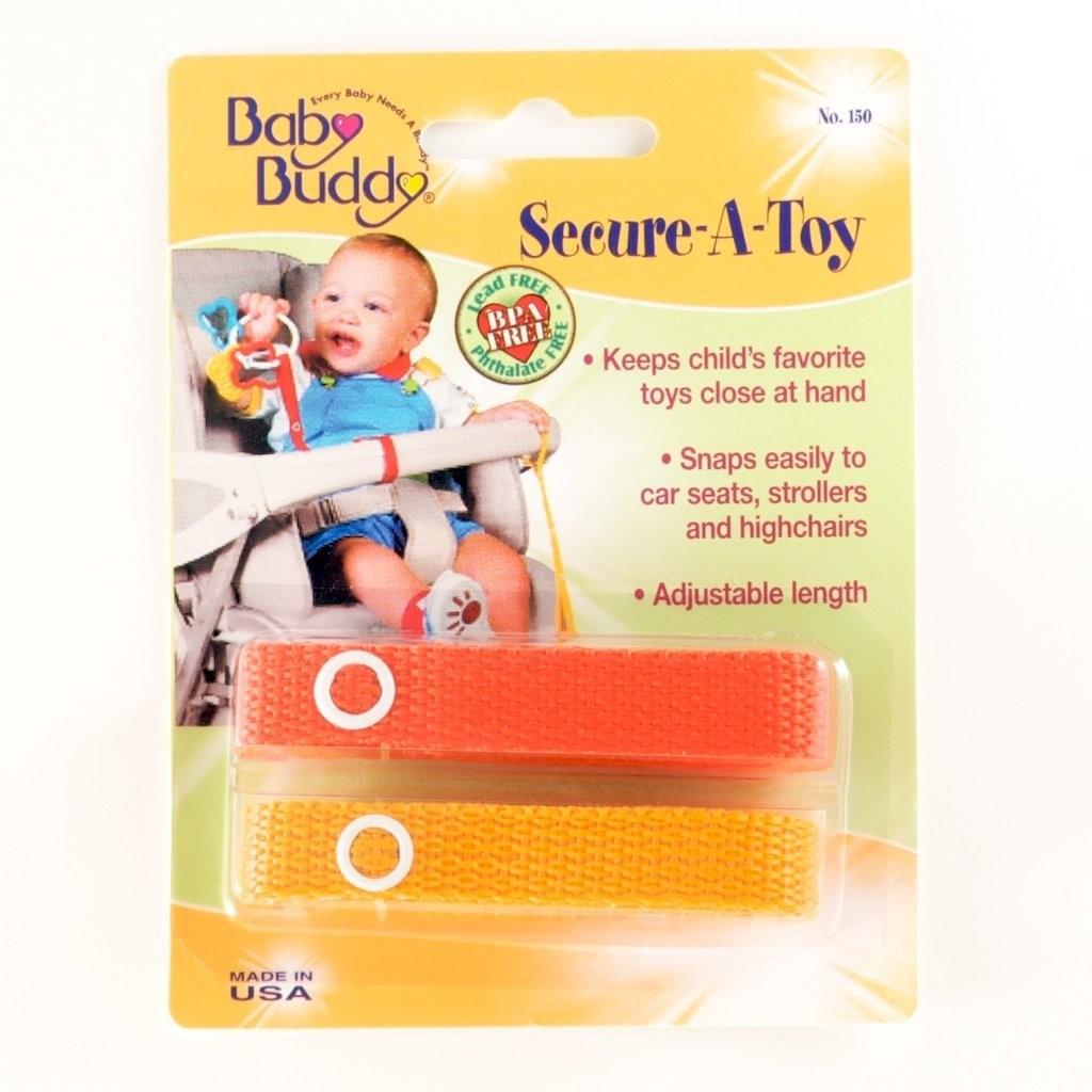 Secure-A-Toy da Baby Buddy - tiras para segurar os brinquedos.