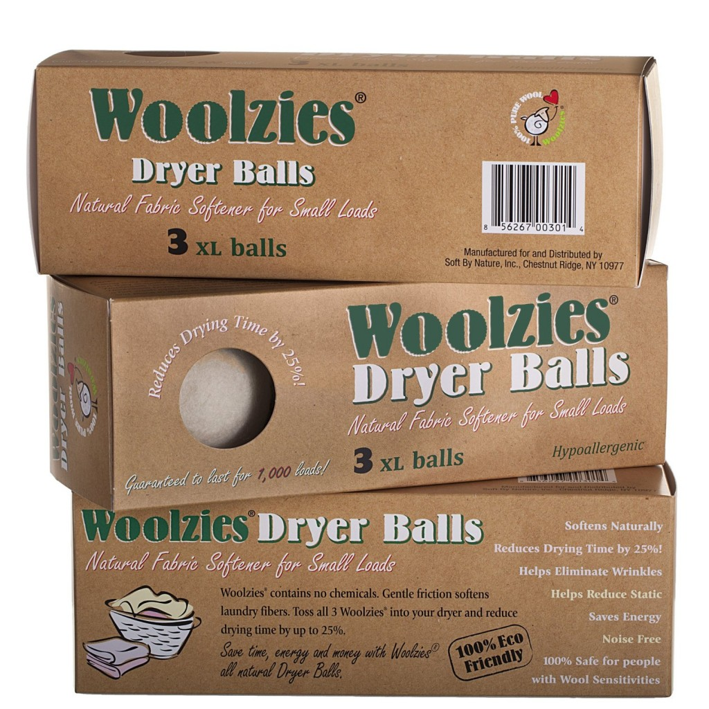 Woolzies Wool Dryer Balls - Bolas amaciantes naturais.