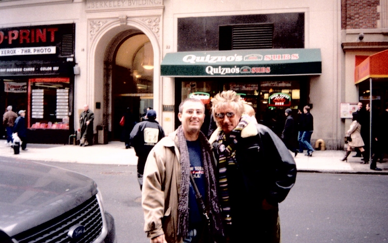 Luiz com Rod Stewart
