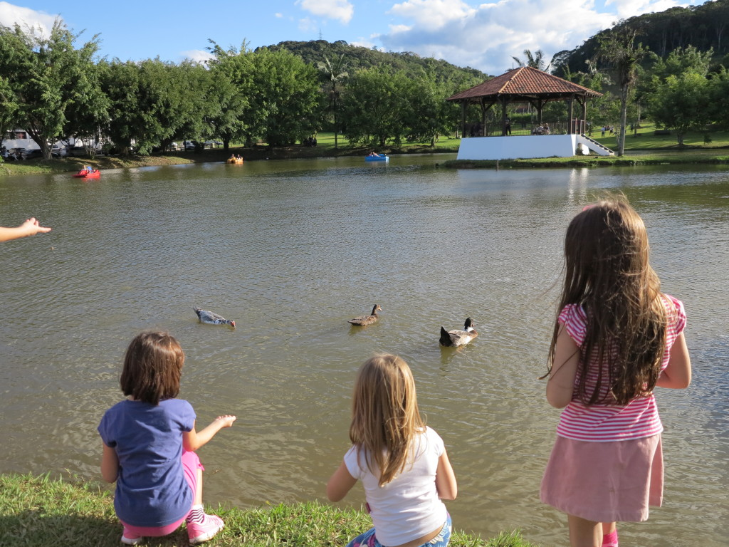 Parque Expoville Atividades - Alimentando os patos