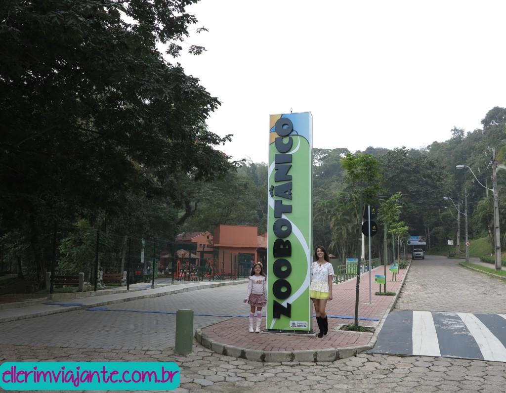Entrada do Parque Zoobotânico - estacionamento exclusivo para idosos e portadores de necessidades especiais.