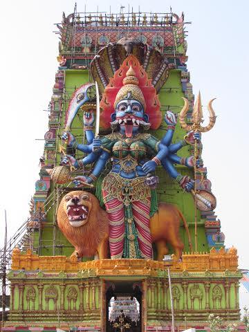 Fachada de Templo hindu em Hosur