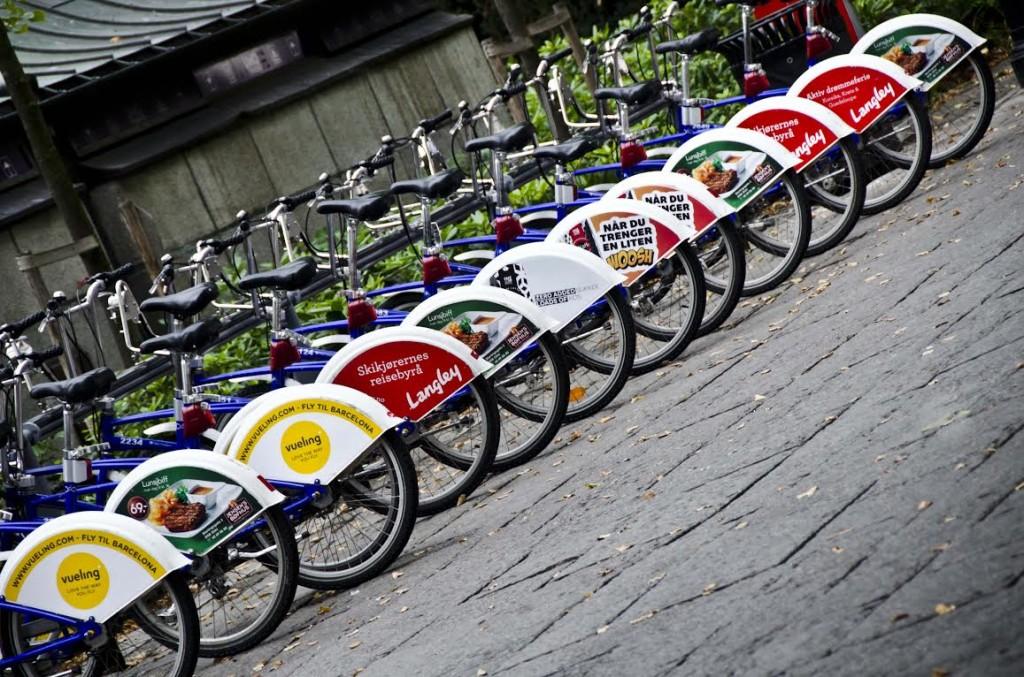 As bicicletas para aluguel