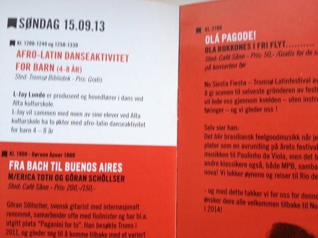 Foto Revista Tromso com Pagonde na programação