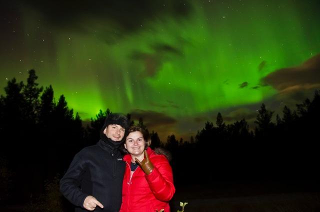 Omar e Patrícia na Auroral Boreal