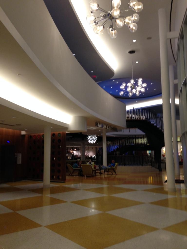 O Lobby do hotel é lindo.