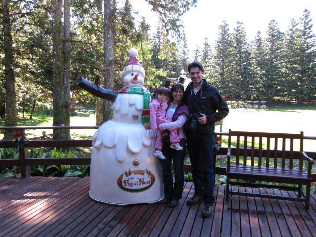 Entrando no Parque Knorr, onde fica a Aldeia do Papai Noel