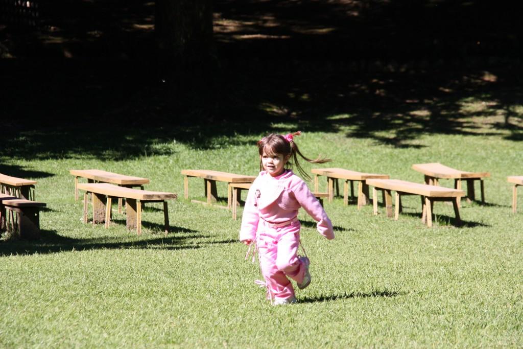 Parte preferida da Ellerim, correr pelo parque
