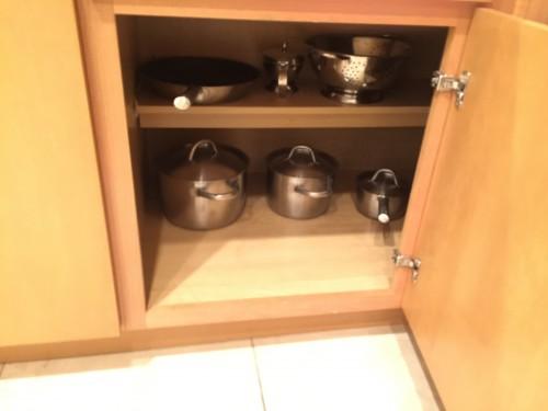 Panelas, frigideira, escorredor de macarrão