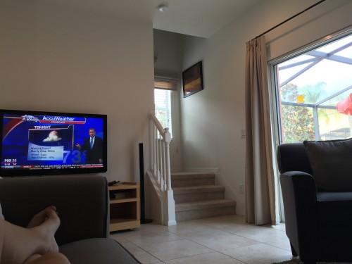 TV da sala (tem TV no quarto também)