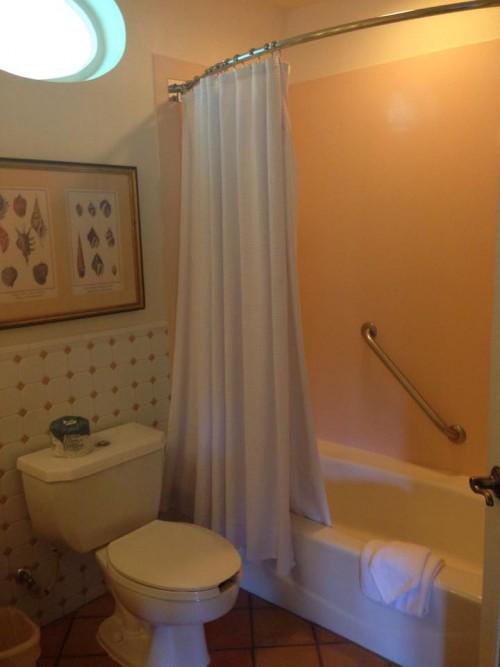E o banheiro era enorme.