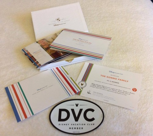 Welcome Kit do Disney Vacation Club - DVC