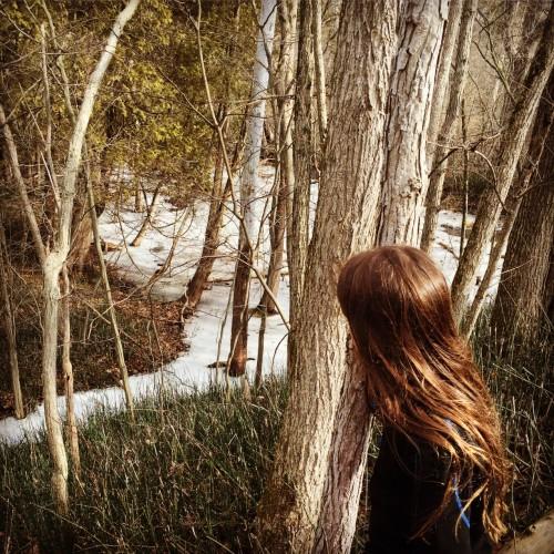 Os lagos congelados, parecem os cartões de antigamente
