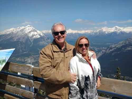 Nós no alto de Banff