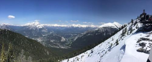 Pegue o Bondinho até o alto da montanha em Banff, e a vista vale à pena