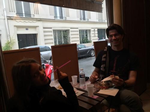 Mauro e Ellerim no Lika Home Bagels