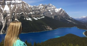 A vista de Peyto Lake