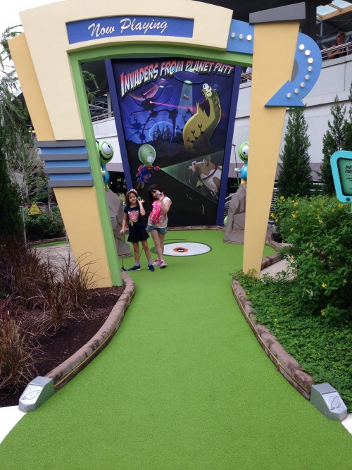 Entrada do Mini Golf