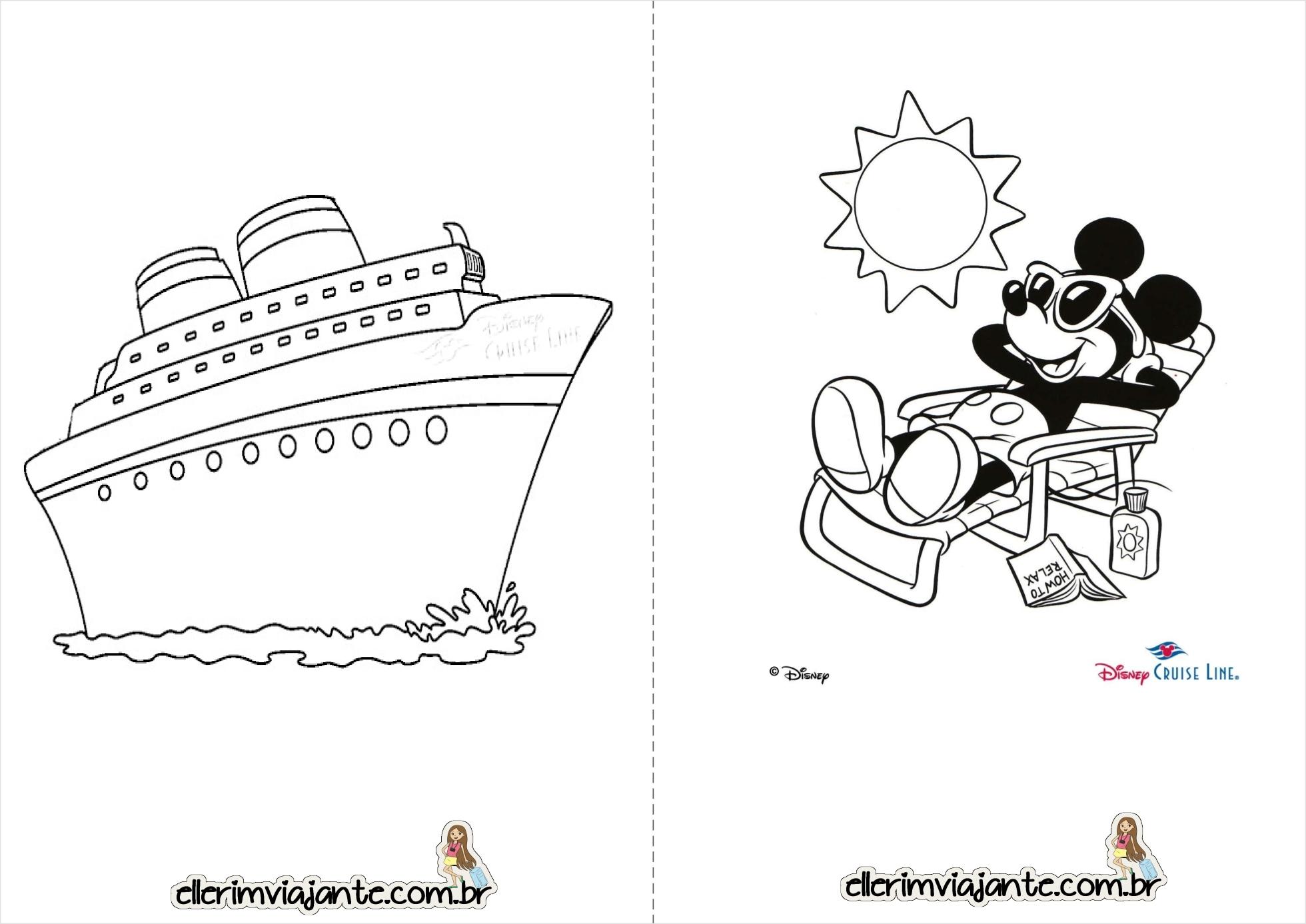 Livrinho para Colorir - Disney Cruise