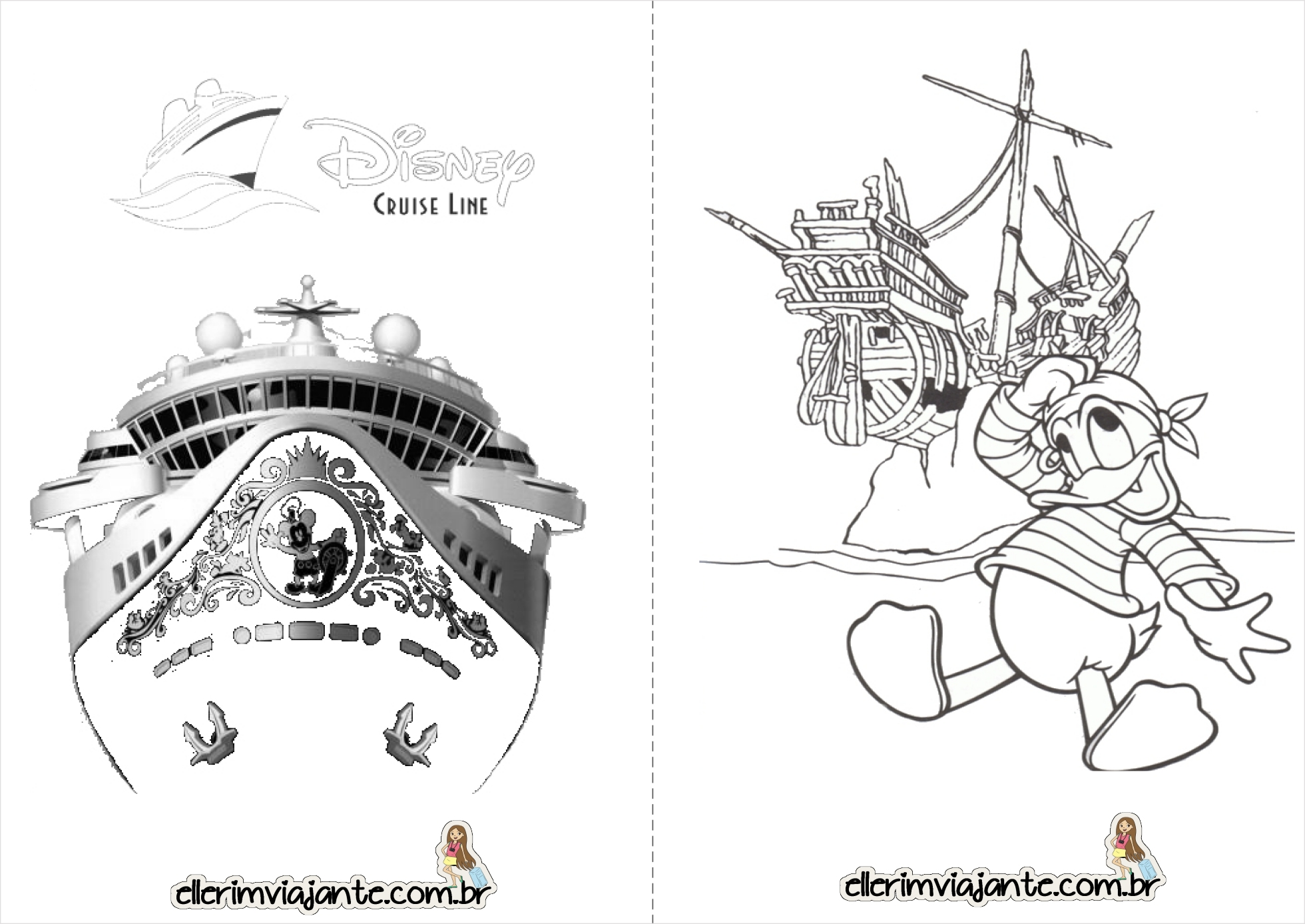 Disney Cruise Line Sheets Coloring Pages
