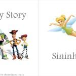 Página Livrinho Personagens Walt Disney World