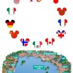 Páginas para seu Passaporte do Epcot Disney